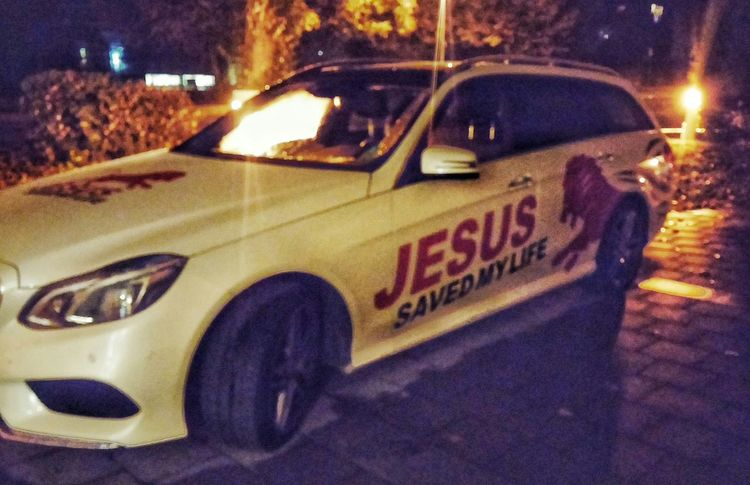 Josef Müller Jesus Saved My Life Lion Car Night Check This Out Hello World