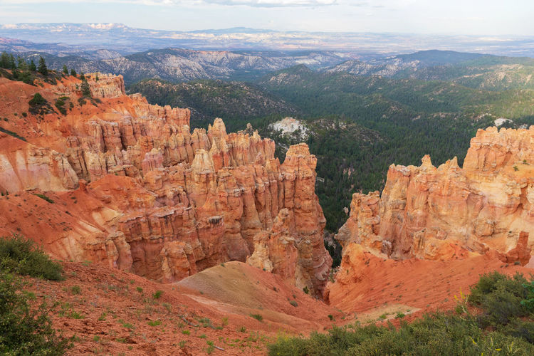 the overwhelming Bryce Canyon Rock Rock - Object Non-urban Scene Beauty In Nature Travel Destinations Scenics - Nature Tranquility Tranquil Scene Outdoors Eroded Formation Bryce Canyon Utah National Park Landscape Rock Formation Physical Geography Solid Mountain Environment Canyon High Angle View Geology Climate Arid Climate