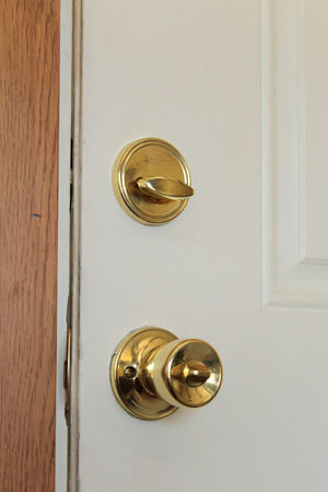 Brass Closed Door Door Knob Latch Lock Metallic No People Security Shiny Still Life The OO Mission