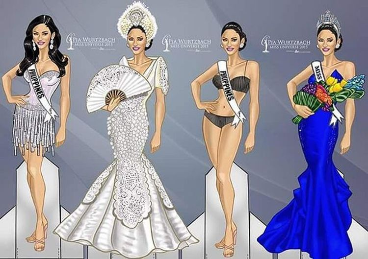 Waaaahhh!!! Super cute @piawurtzbach paperdolls!!! I want to have one of these.... 😍👑👸 Piawurtzbach Missuniverse2015 MissPhilippines2015