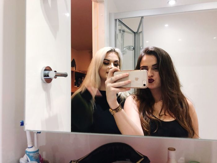 Photography Themes Mirror Photographing Selfie Bathroom Real People Wireless Technology