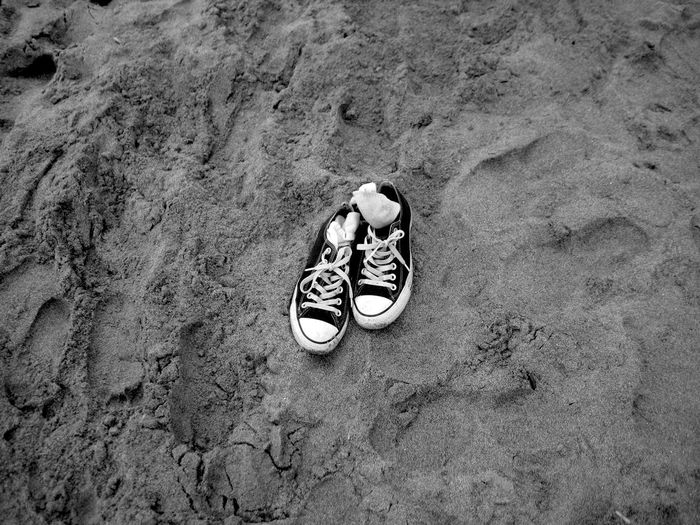 Take your shoes off...👟 Sandy Beach Monochrome Island Life Takeitoff Sand Leftbehind Shoes