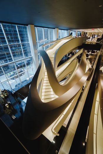 Architecture Built Structure Transportation Modern No People Illuminated Indoors  City Mode Of Transportation Glass - Material Nature High Angle View Railing Connection Car Day Water Luxury