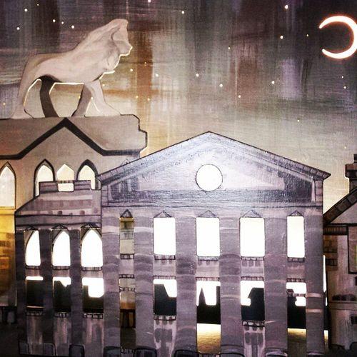 Huddersfield Light Box Project commission art festival wood carpentry kirklees display stageset mixedmedia artist magic moon lunar night stars