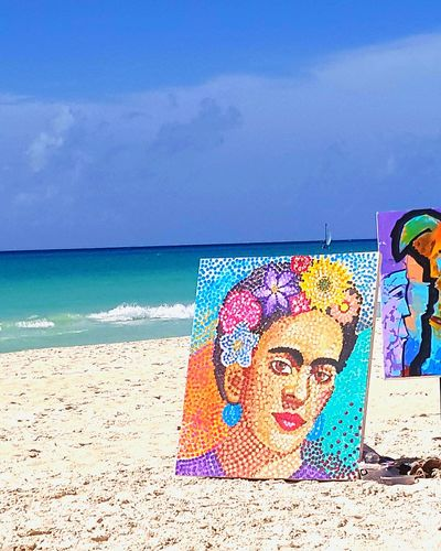 Beach Sand Multi Colored Summer Vacations Outdoors Horizon Over Water Beauty In Nature Travel Destinations Bellemexique Rafapic Mexico The Week On EyeEm Landscape EyeEmNewHere Bellomexico Cloud - Sky Investing In Quality Of Life Frida Khalo Painting Artwork