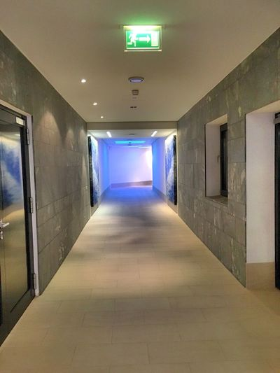 Illuminated The Way Forward Indoors  Corridor Empty Ceiling Architecture Built Structure No People
