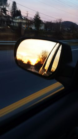 Driving Mirror Sunrise Relaxing Driving To Work Taking Photos Check This Out Enjoying Life Hanging Out Hello World Trees Sky Taking Photos Colors Autumn Fall Pennsylvania