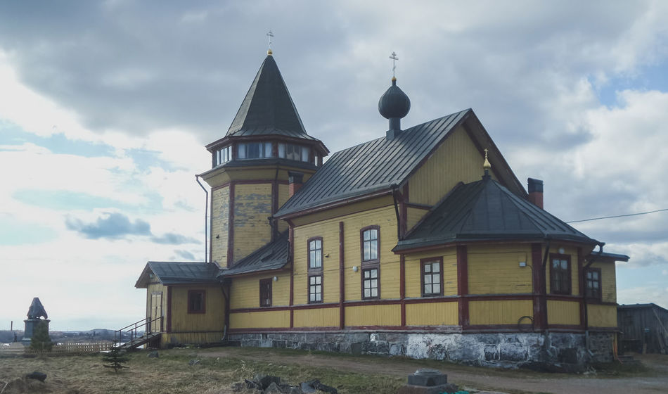 Church of St. Nicholas in Sortavala, Karelia Architecture Building Exterior Built Structure Christianity Church Cloud - Sky Day Faith Karelia Nature No People North Northern Orthodox Orthodox Church Outdoors Overcast Place Of Worship Russia Russian Russian Architecture Sky Sortavala Wooden Wooden Church