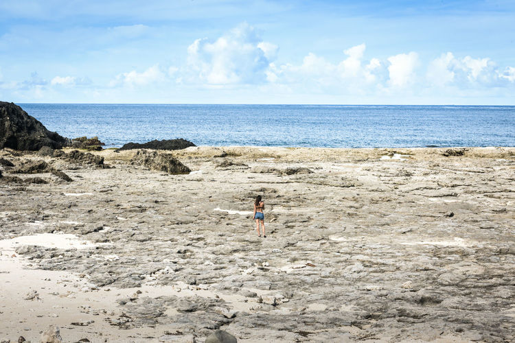 green island, Taiwan Adult Beach Blue Child Childhood Children Only Cloud - Sky Day Horizon Over Water One Girl Only One Person Outdoors People Real People Sand Sea Sky