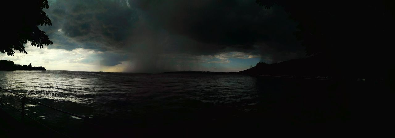 Stormy Stormy Wheather Clouds Clouds And Rain Rain Dark Whater Bodensee @ Bregenz Cloudy Darkness And Light
