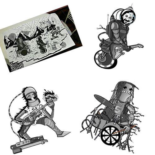 Papinylosperrobots Friends Costarica Drawing Dibujodeldia Art Design