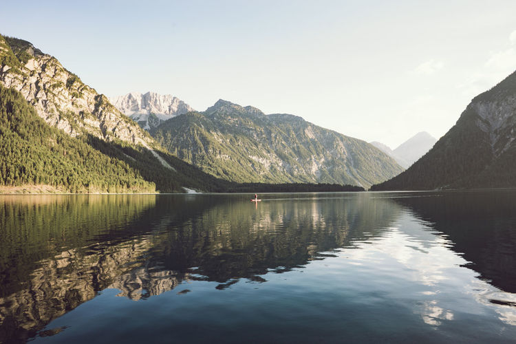 Austrain alps and a moutain lake. Reflections in the water. Mountain Lake Lake View Mountain Reflections Sky Alps Water Travel