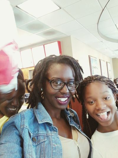 Kicking with baby sis Looking At Camera Eyeglasses  Smiling Fun Togetherness Close-up Gorgeous Beauty Matte Lipstick Inspired Family Leisure Activity Selfie Time BlackBeauty Goddess Lifestyles Blackgirlmagic Melanin Queen Cheerful Dreadheadbeauty Awkwardly Awesome Eyeglasses  Highlife Selfie Sisters