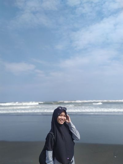 The beautiful beaches are located in cilacap which are taken during the day