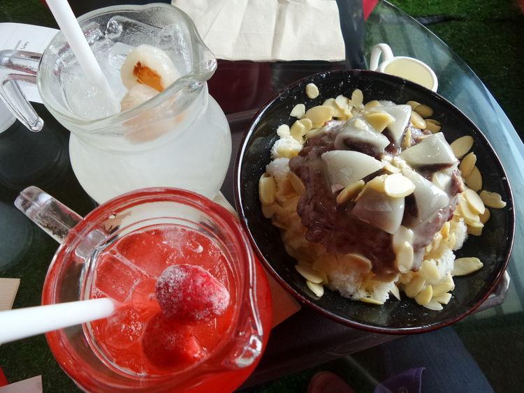 PatBingsu & Stawberry Soda & Lychee Soda