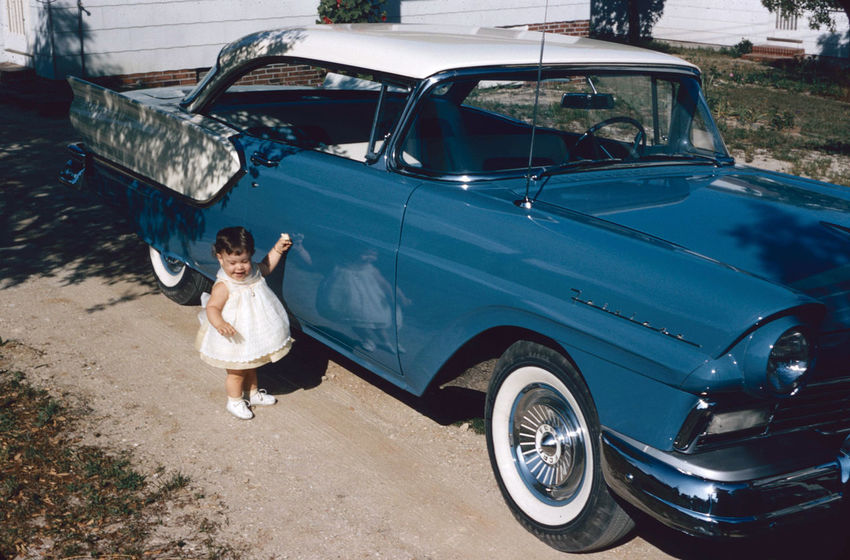 Ford Fairlane 500 Cars Ford Fairlane 500 Adult Car Casual Clothing Child Childhood Day Females Full Length Innocence Land Vehicle Leisure Activity Mode Of Transportation Motor Vehicle Nature One Person Outdoors Real People Standing Transportation Women