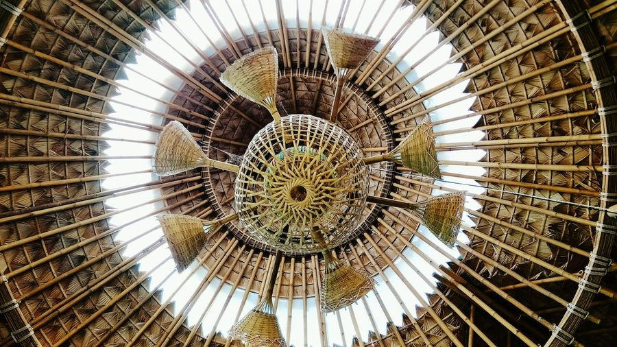 Bamboo Dome decorations Decoration Hut Design Roof Design Bamboo Roof Leaf Art Concentric Close-up Architecture Dome Full Frame Architecture And Art Skylight Architectural Detail Leaf Vein Leaves