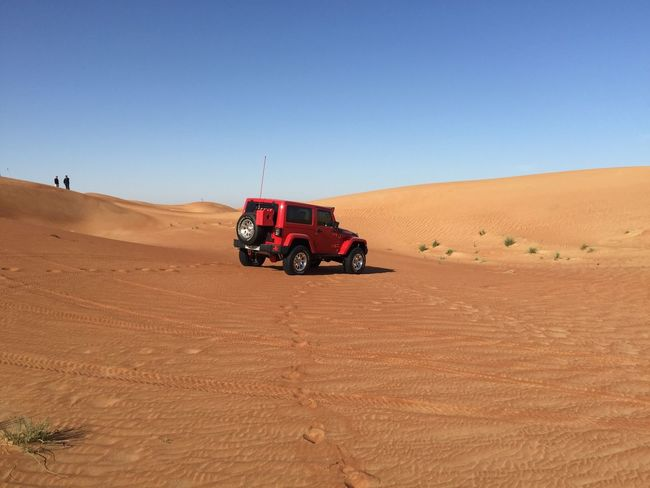 Sand Jeep Wrangler  Offroad Motorsport Deserts Around The World Tourism Car UAE Dubai Sky Horizon Ocean Jeep Desert Landscape