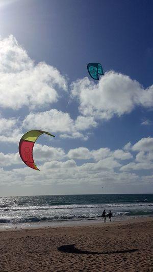 AndroidPhotography Australian Photographers Android Photography Low Tide Sunlight Summer Outdoors Beach Sky Scenics Kitesurfing Kiteboarding Kite Surfers Beach Life Beach Photography
