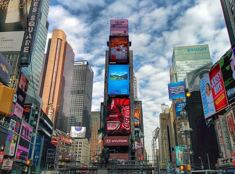 Times Square New York City TimesSquare Times Square NYC Building Sky
