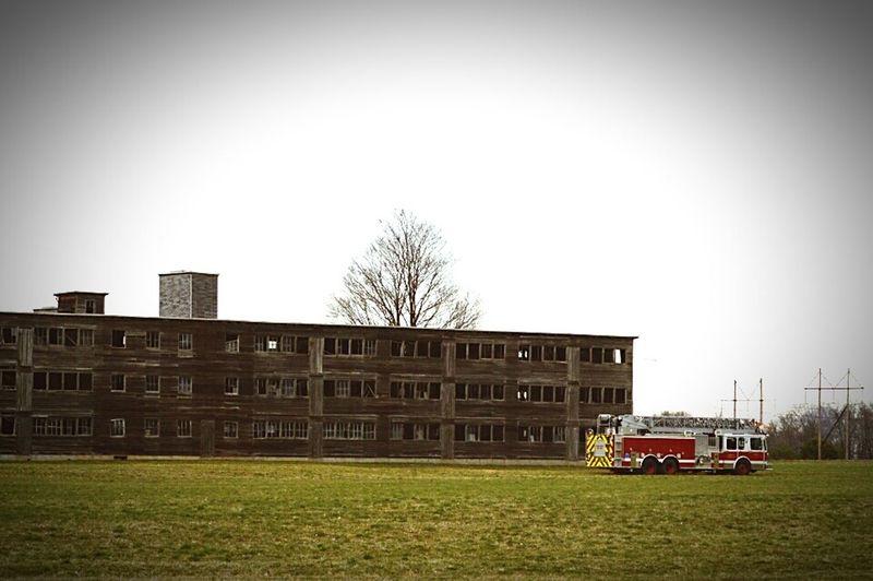 Firetruck Burn Building
