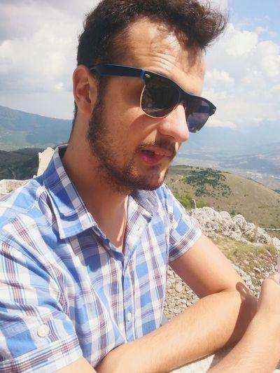 Love ♥ Outdoors Abruzzo Man Gran Sasso D'Italia Rocca Calascio Sunglasses