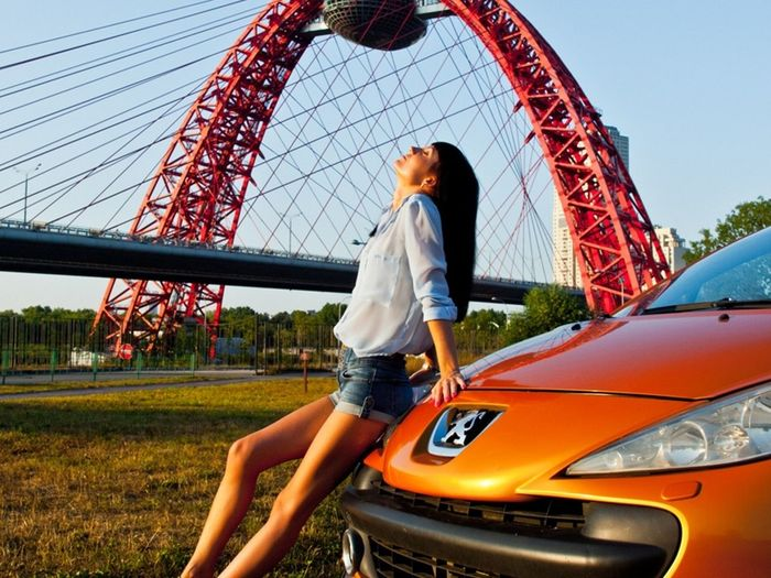 Girl And Car