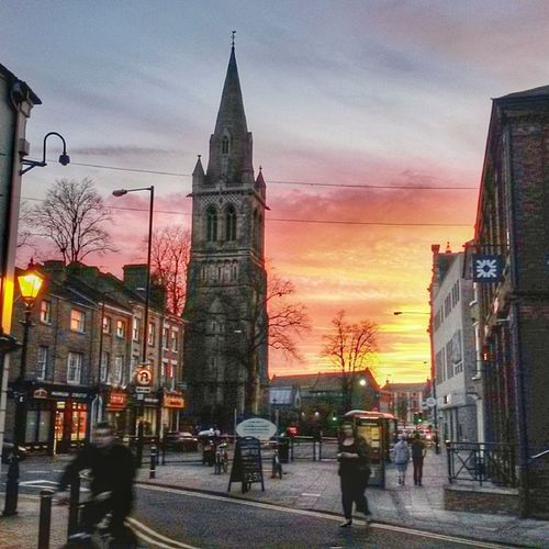 Rugbytown England Uk Church sunset street instaplace snapseed 365cz fmcz rbs lamp rugby insta