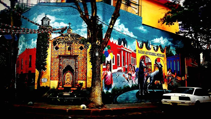 Coyoacán Building Exterior Built Structure Architecture City Illuminated Travel Destinations Night Outdoors No People Sky