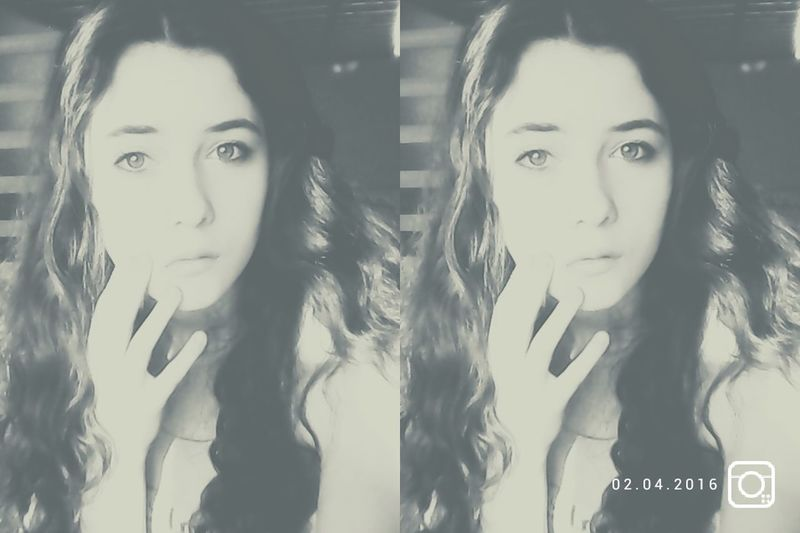 Selfie ✌ Black & White Polish Girl Funny Day...:P GoodNight ❤✌ By Me That's Me Poland