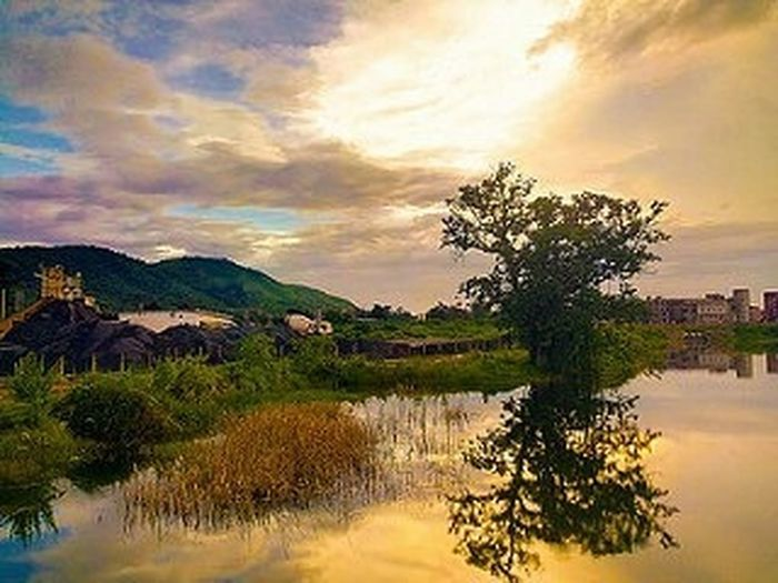 Reflection Nit Rourkela Nitrourkela Phone Phonography  Landscape Mobilephotography Mobilephoto Clouds Cloudporn Reflection Hills Odisha Nature