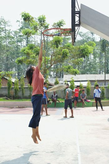 Jumpingwoman Basketball Game Friendship Ring