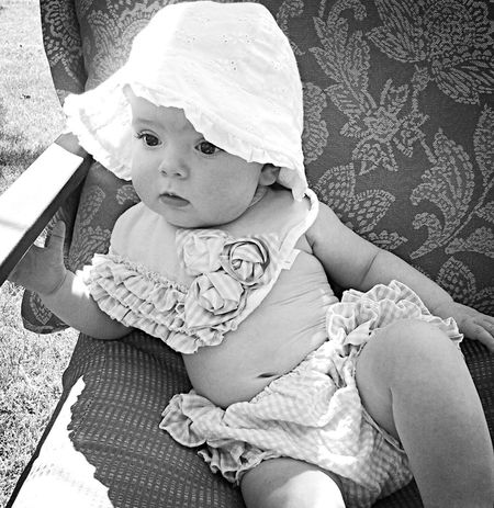Black/ white photo. Sweet love. Baby Portrait Babyhood Babies Only One Person Sitting Childhood Real People Day People Outdoors EyeEmNewHere