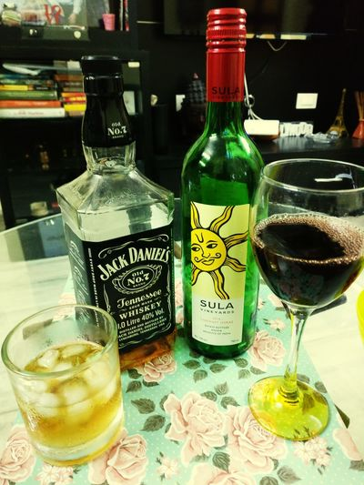 Wine and Jd love affair. I just love d way the looking at each others .Wine Not Wine Bottle Wineglass Drinking Glass Drink Alcohol Kaushalgokarankar'sphotography Justclick