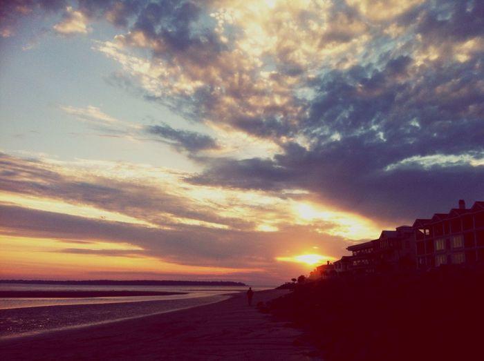 Enjoying Life Sunset Water Sand Reflection Water Reflections January2015 Negative Ions Feeling Thankful