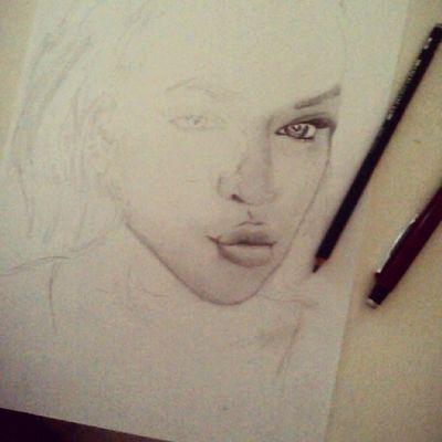 In the making of the Beautiful Khloekardashian Kardashian KUWTK sketchbybrown sketch Michael Brown Gothenburg Sweden