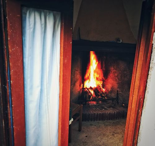 EyeEm Selects Fireplace Fireplace Warmth Fireplace Watching Italy Italian House Home Home Is Where The Art Is Home Interior Warmth Warmth Feeling Flame Burning Heat - Temperature Indoors  No People Day Close-up