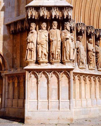 Cathedral Church Statue Statues Built Structure Building Exterior Sculpture Human Representation History Stone Material Historic Architectural Feature Architecture Tarragona España SPAIN