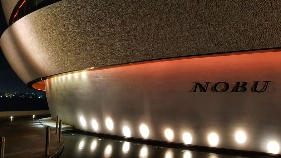 Nobu Restaurant, Doha... design building Illuminated No People Night Close-up Nobu Sushi Restaurant Restaurant Nobu Modern City Life Been There. Done That. The Week On EyeEm Travel Destinations Architecture Outdoors