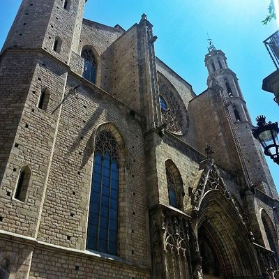Barcelona Cathedral in Gothic Quarter. Romanesque Gothic Woodapeuro