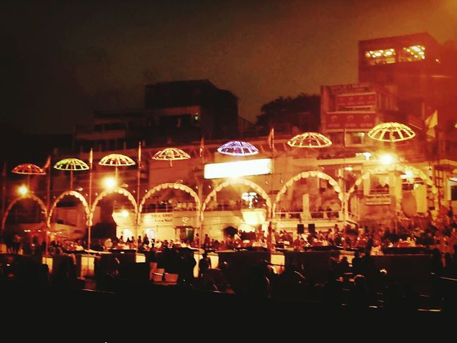 Benares Ghaat Riverscape Light In The Darkness Holy India Awesome
