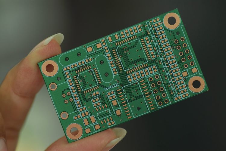 Printed circuit board in your hand