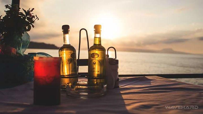 Memories Of Summer Rethymno Crete Greece Crete Greece Rethymnon Rethymnon City Impressions Sunset Holiday Memories Holidays In Greece ❤ Sunshine Lovelyday Seamyphotos Sea View Dinner Table