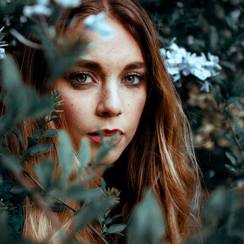 Adult Adults Only Beautiful Woman Close-up Closeupshot Day Headshot Long Hair Looking At Camera One Person One Woman Only Only Women Outdoors People Plants And Flowers Portrait Portraiture Young Adult Young Women The Portraitist - 2017 EyeEm Awards
