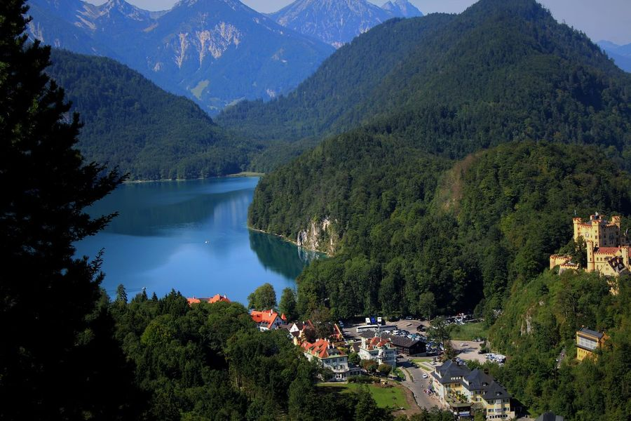 Allgäu Allgäuer Landschaft Architecture Beauty In Nature Day Forest Growth High Angle View Lake Mountain Mountain Range Nature No People Outdoors Photography Scenics Sky Tranquil Scene Tranquility Tree Water