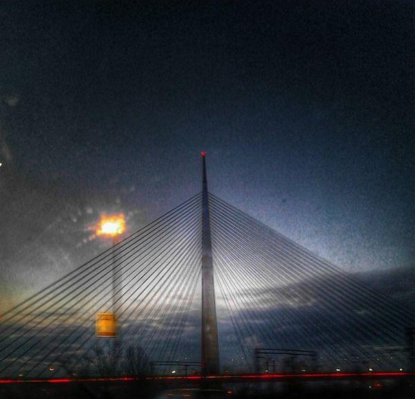 Nightphotography Bridge Walking Around The City  Belgrade Most Na Adi