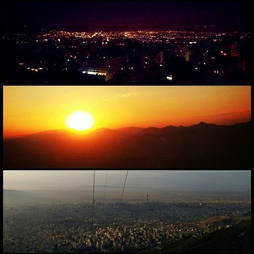 گذر زمان ... ¬ Iran - Tehran - Tochal ¬ Fri , Jan 2 , 2015 ¬ Time: 05:40 Am¬ГTime: 07:01 Am ¬ Time: 08:07 Am ¬ H.kia
