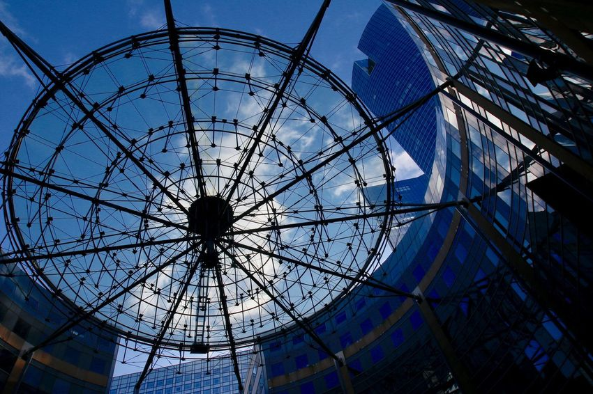High The Graphic City Architecture Blue Building Exterior Built Structure Day Dome High Angle View Indoors  Low Angle View No People Sky EyeEmNewHere