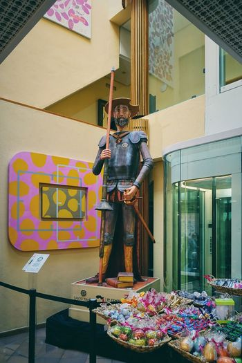 Cervantes DonQuixote Easter Holy Week Miguel Cervantes SPAIN Statue Toledo Spain Confectionery Creativity Decoration Donquijote Historic Historical Historical Place Interior Interior Design Knight  One Person Pastry Santo Tome Standing Store Toledo Wooden