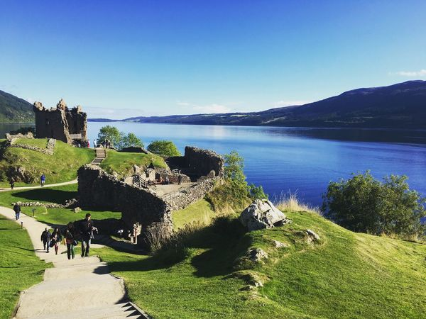 UrquhartCastle Lochness Scotland Castle Architecture Day Outdoors Sky Tranquility Beauty In Nature Nature Tranquil Scene Scenics Water